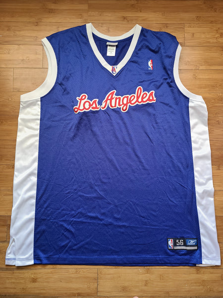 Vintage Mens Reebok Los Angeles Clippers Stitched Blank Jersey Size 56-Blue