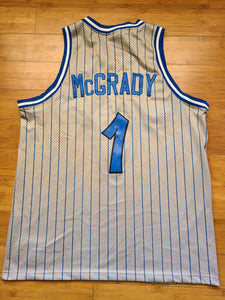 Vintage Mens Nike Orlando Magic Tracy McGrady Retro Jersey Size Large-Grey