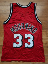 Load image into Gallery viewer, Vintage Mens Champion Miami Heat Alonzo Mourning Jersey Size 40-Red