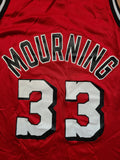 Vintage Mens Champion Miami Heat Alonzo Mourning Jersey Size 40-Red