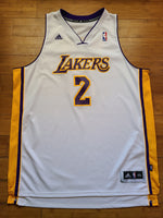 Vintage Mens Adidas Los Angeles Lakers Derek Fisher Jersey Size XXL-White