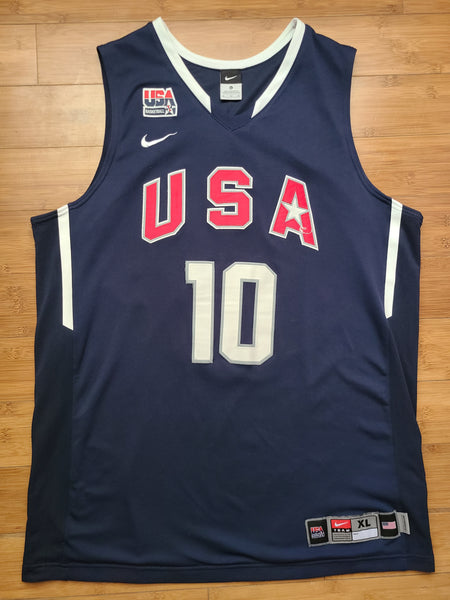 Vintage Mens Nike 2008 USA Basketball Kobe Bryant Jersey Size XL-Navy Blue