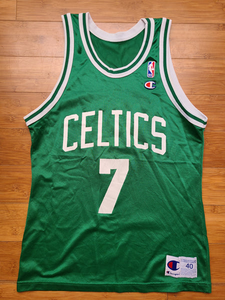 Vintage Mens Champion Boston Celtics Slam Dunk Champion Dee Brown Jersey Size 40-Green