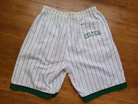 Vintage Mens Starter Boston Celtics Pinstripe Shorts White