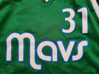 Vintage Mens Adidas Dallas Mavericks Jason Terry Swingman Jersey Size XXL-Green
