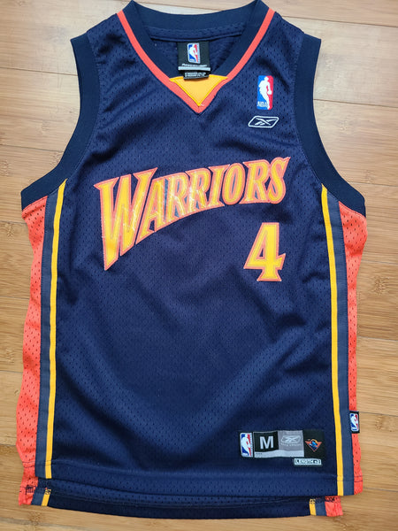 Vintage Youth Reebok Golden State Warriors Derek Fisher Jersey Size M(10-12)-Navy Blue