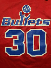 Load image into Gallery viewer, Vintage Mens Champion Washington Bullets Rasheed Wallace Jersey Size 44-Red. Great Condition.