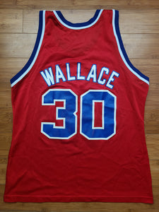 Vintage Mens Champion Washington Bullets Rasheed Wallace Jersey Size 44-Red. Great Condition.
