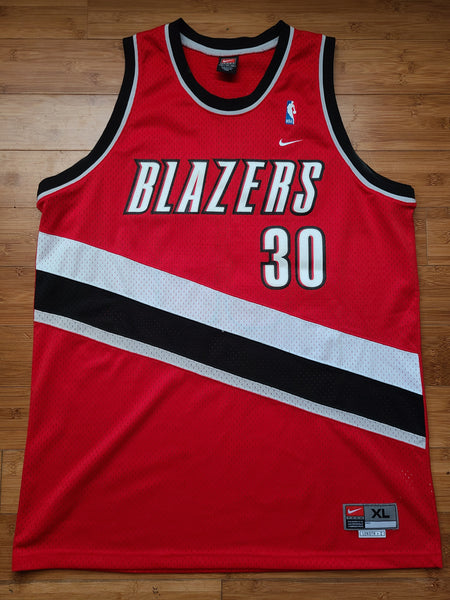 Vintage Mens Nike Portland Trailblazers Rasheed Wallace Swingman Jersey Size XL-Red