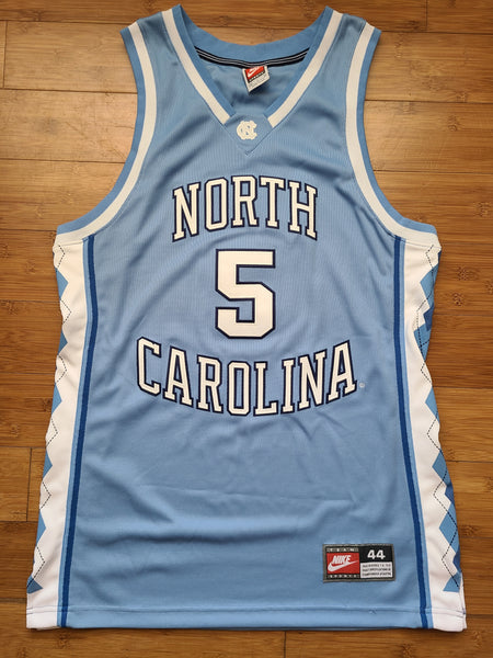 Vintage Mens Nike North Carolina Tar Heels #5 Authentic Jersey Size 44-Carolina Blue