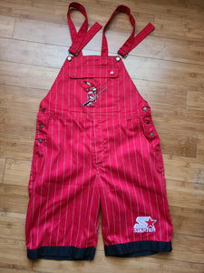 Vintage Mens Starter UNLV Runnin Rebels Pinstripe Overalls Size Medium-Red. Great Condition.