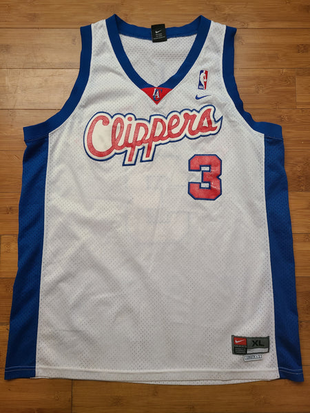 Vintage Mens Nike Los Angeles Clippers Quentin Richardson Swingman Jersey Size XL-White