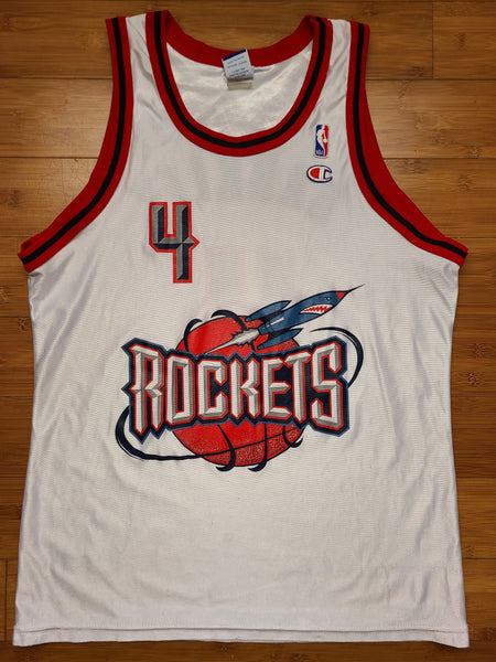 Vintage Mens Champion Houston Rockets Charles Barkley Jersey Size 44-White