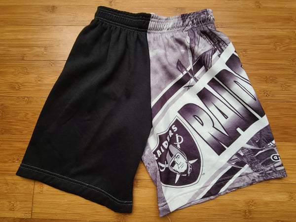 Vintage Mens Chalk Line Los Angeles/Oakland/Las Vegas Raiders Fanimation Sweat Shorts Size Small-Black