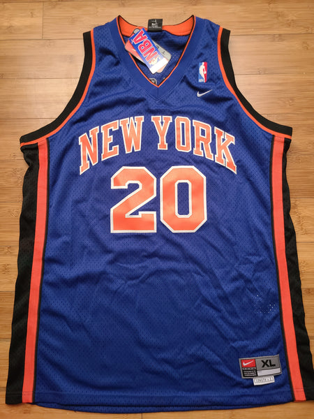NWT Vintage Mens Nike New York Knicks Allan Houston Swingman Jersey Size XL-Blue