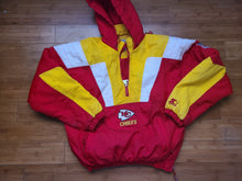 Load image into Gallery viewer, Vintage Mens Starter Kansas City Chiefs 3/4 Pullover Jacket Size Small-Red