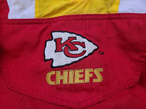 Vintage Mens Starter Kansas City Chiefs 3/4 Pullover Jacket Size Small-Red