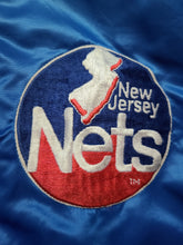 Load image into Gallery viewer, Vintage Mens Starter New Jersey Nets Satin Jacket Size XL-Blue
