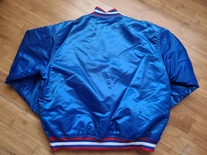 Vintage Mens Starter New Jersey Nets Satin Jacket Size XL-Blue