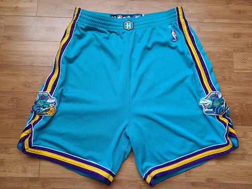 Vintage Mens Reebok New Orleans Hornets Game Issued Shorts Size 42-Teal