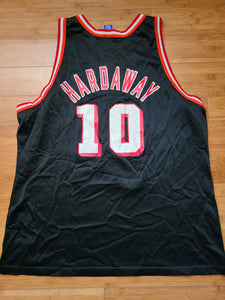 Vintage Mens Champion Miami Heat Tim Hardaway Jersey Size 52-Black