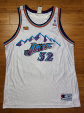 Load image into Gallery viewer, Vintage Mens Champion Utah Jazz 1998 NBA Finals Karl Malone Jersey Size 44-White