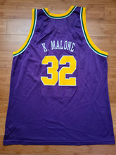 Load image into Gallery viewer, Vintage Mens Champion Utah Jazz Karl Malone Jersey Size 48-Purple