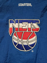 Load image into Gallery viewer, Vintage Mens Starter New Jersey Nets 3/4 Pullover Jacket Size Medium-Blue