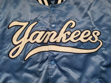Load image into Gallery viewer, Vintage Mens Starter New York Yankees Satin Jacket Size XL-Baby Blue