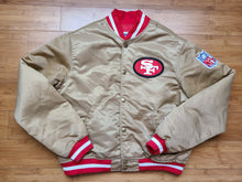 Load image into Gallery viewer, Vintage Youth Starter San Francisco 49ers Satin Jacket Size Large-Gold