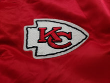 Load image into Gallery viewer, Vintage Mens Starter Kansas City Chiefs Satin Jacket Size Large-Red