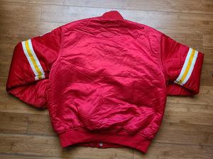 Vintage Mens Starter Kansas City Chiefs Satin Jacket Size Large-Red