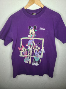 Vintage Mens 90s Mickey, Minnie, and Goofy Hip Hop Florida Tshirt Size Medium-Purple