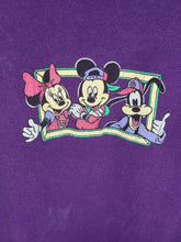 Load image into Gallery viewer, Vintage Mens 90s Mickey, Minnie, and Goofy Hip Hop Florida Tshirt Size Medium-Purple