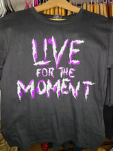 Load image into Gallery viewer, Vintage Mens 2001 WWF Hardy Boyz Live For the Moment Tshirt Size Medium-Black