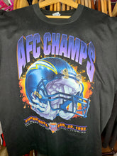 Load image into Gallery viewer, Vintage Mens Salem Sportswear San Diego/Los Angeles Chargers 1994 AFC Champs Tshirt Size Large-Black