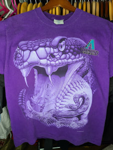 Vintage Mens Pro Player Arizona Diamondbacks 1998 Tshirt Size Medium-Purple