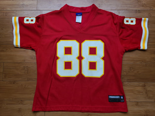 Vintage Youth Reebok Kansas City Chiefs Tony Gonzalez Jersey Size Medium-Red