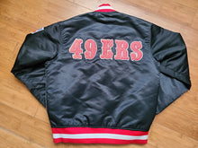 Load image into Gallery viewer, Vintage Mens Starter San Francisco 49ers Satin Jacket Size Small-Black