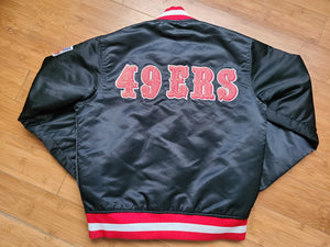 Vintage Mens Starter San Francisco 49ers Satin Jacket Size Small-Black