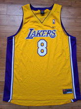 Load image into Gallery viewer, Vintage Mens Nike Los Angeles Lakers Kobe Bryant Swingman Jersey Size 2XL-Gold