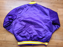 Load image into Gallery viewer, Vintage Mens Starter Minnesota Vikings Satin Jacket Size Large-Purple