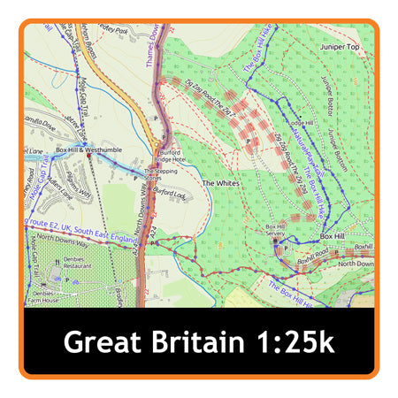 Great Britain Adventure Map (Whole) 1:25k