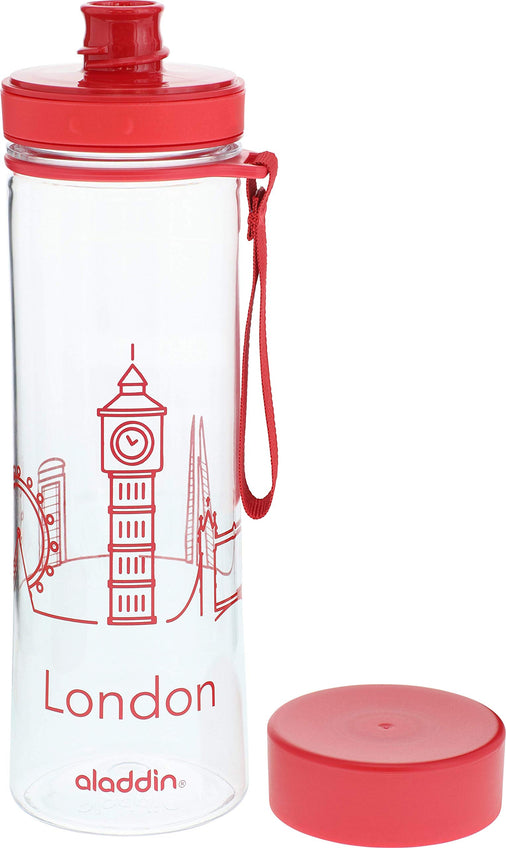 Aladdin - Aveo Water Bottle City Series London 0.6L Red
