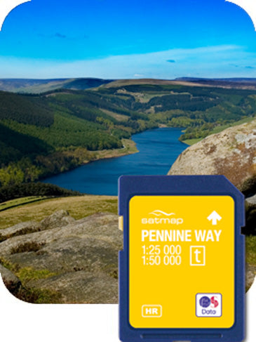 Satmap MapCard: The Pennine Way (OS 25k & 50k)
