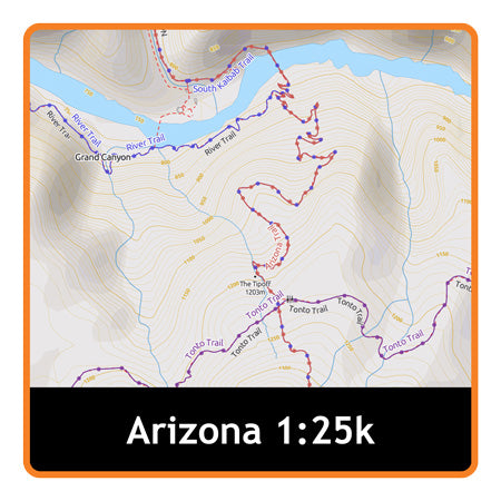 Arizona Adventure Map 1:25k