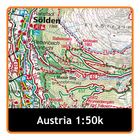 Austria Whole (Kompass) 1:50k