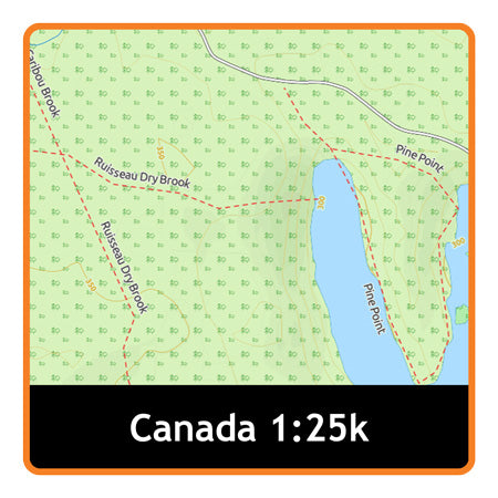 Nova Scotia, New Brunswick and Prince Edward Island Adventure Map 1:25k