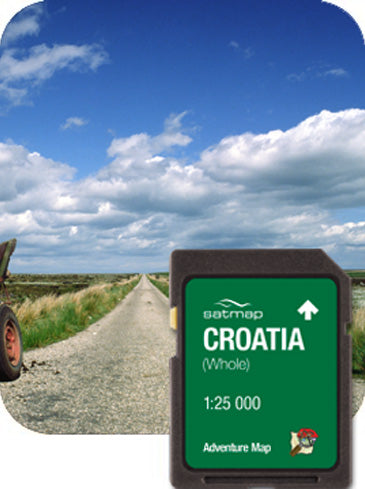 Croatia (Whole) Adventure Map 1:25k