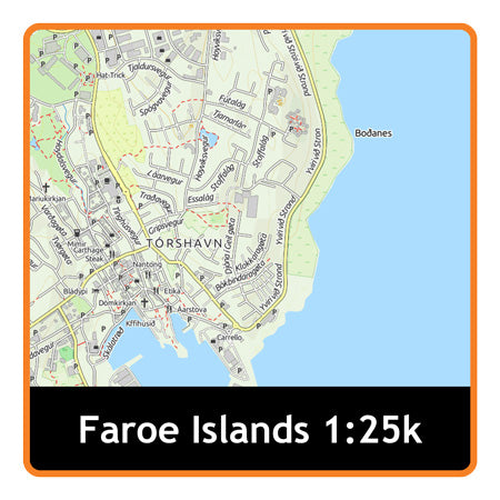 Faroe Islands Adventure Map 1:25k